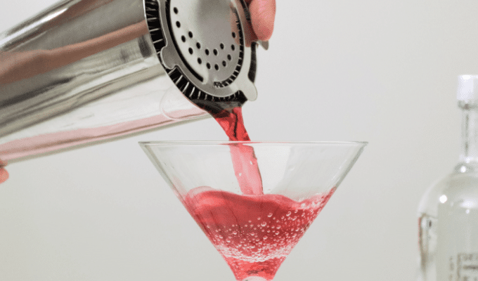 kerst martini cocktail